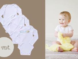 Naujas baltų smėlinukų kūdikiui komplektas 3vnt.