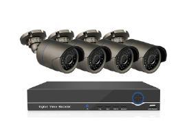 4 Ip Poe stebėjimo kamerų komplektas 2 Mp