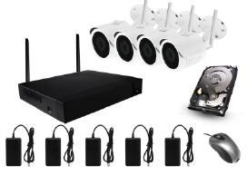 Belaidė 4 Ip Wi-fi kamerų stebėjimo sistema 2 Mp