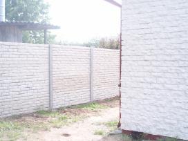 Betono gaminiai,lauko suolai,šiukšledėžės,tvoros.