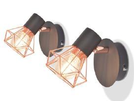 Sieninis šviestuvas su 2 Led filament244393 vidaxl