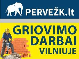 Griovimo darbai Vilniuje ir Vilniaus r.