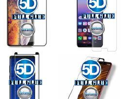 Gaubti 5D grūdinti stiklai mobiliesiems telefonams