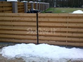 Medinės tvoros, vartai statyba visoj lietuvoj