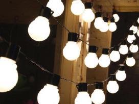 Led lempučių girliandų nuoma 100m tik 30€!