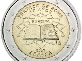 """Ispanija 2 euro 2007 """"Romos sutartis"""" Unc"""