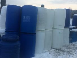 Backos, talpos 200 litru, 1000 litru pusles Ibc