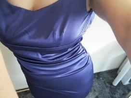 Proginė violetinė suknelė