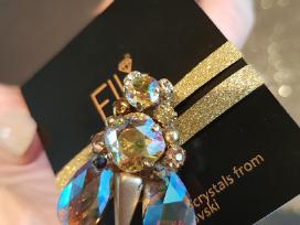 Swarovski kristalu papuosalai