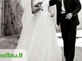 Lengva daili vestuvinė suknelė
