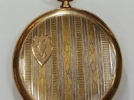 Moser auksinis kišeninis laikrodis 51,62g 585 - nuotraukos Nr. 2