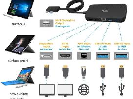 Surface adapteris Hdmi Audio Usb 3 Lan Displayport