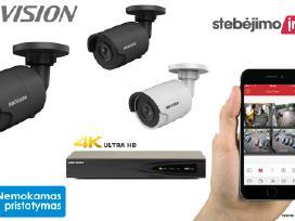 Hikvision x3 Ip lauko/vidaus kameros sistema 4mp