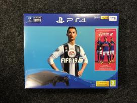 Naujas Sony Playstation 4 Ps4 Slim 1tb + Fifa 19