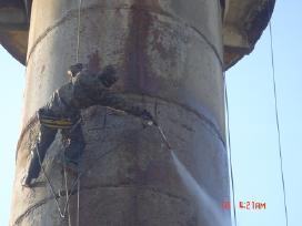 Aukštuminiai statybų darbai-vandens bokštų,dažymas - nuotraukos Nr. 3