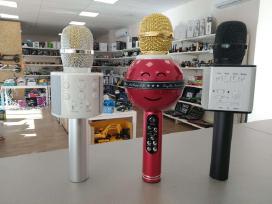 Nauji karaoke mikrofonai su efektais! Garantija!