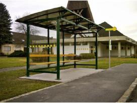 Viešojo transporto, autobusų stotelės, paviljonai.