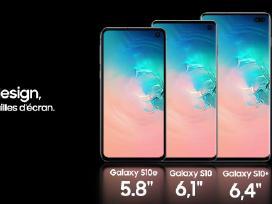 Samsung Galaxy S10e, S10, S10+ naujas