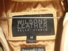 Parduodu smėlio spalvos odinę striukę