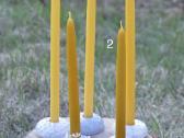 Bičių vaško žvakės - nuotraukos Nr. 2