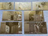 Suvenyriniai aukso spalvos euro banknotai - nuotraukos Nr. 3