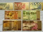 Suvenyriniai aukso spalvos euro banknotai - nuotraukos Nr. 2