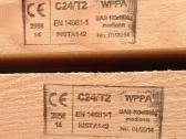 C18, C24 klasės mediena stogams, karkasams ir kt.