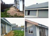 Parduodamas nedastatytas namas iš klijuoto bruso