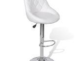Vidaxl 2 Baltos Baro Kėdės 240466 - nuotraukos Nr. 4