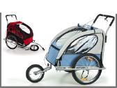 Nauja dviracio priekaba su amortizatoriais