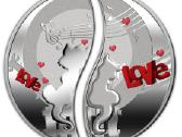 "Niue Island 1 dollar ""In Love"" 2013"