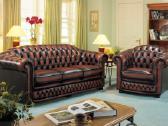Chesterfield natūralios odos nauji baldai - nuotraukos Nr. 4