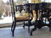 Antikvarinis pietu stalas ir 4 kėdės - nuotraukos Nr. 2