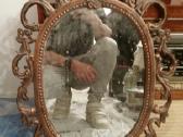 Antikvarinis vintazinis senovinis veidrodis - nuotraukos Nr. 2