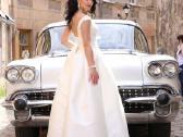 Romantisko stiliaus vestuvine suknele - nuotraukos Nr. 4
