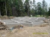 Pamatų įrengimas, betonavimo darbai.