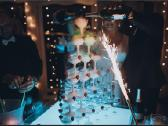 Šampano taurių piramidės ir sauso ledo efektų šou - nuotraukos Nr. 5