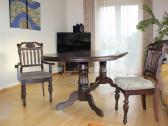 Medžio masyvo klasikinis valgomojo stalas su 8 kėd - nuotraukos Nr. 3