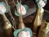 Po šventės liko aukso spalvos vazelės/dekoracijos - nuotraukos Nr. 2
