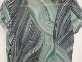 Marga žaliai juoda palaidinė - nuotraukos Nr. 2