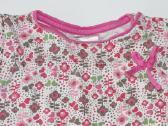 Gėlėta palaidinė mergaitei trumpomis rankovėmis - nuotraukos Nr. 2